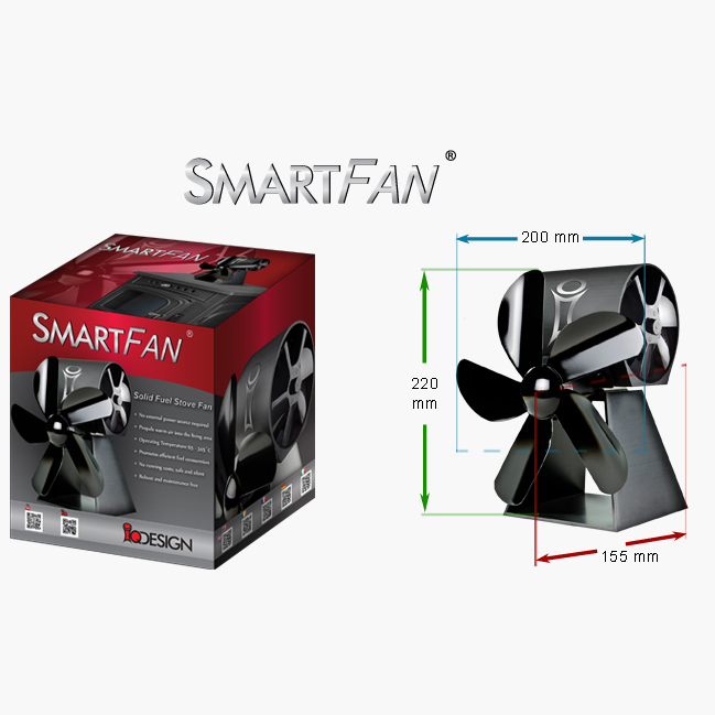smartfan original houtkachel ventilator stove fans ireland. Black Bedroom Furniture Sets. Home Design Ideas